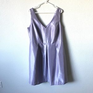 RSVP LILAC FIT N FLARE V-NECK DRESS